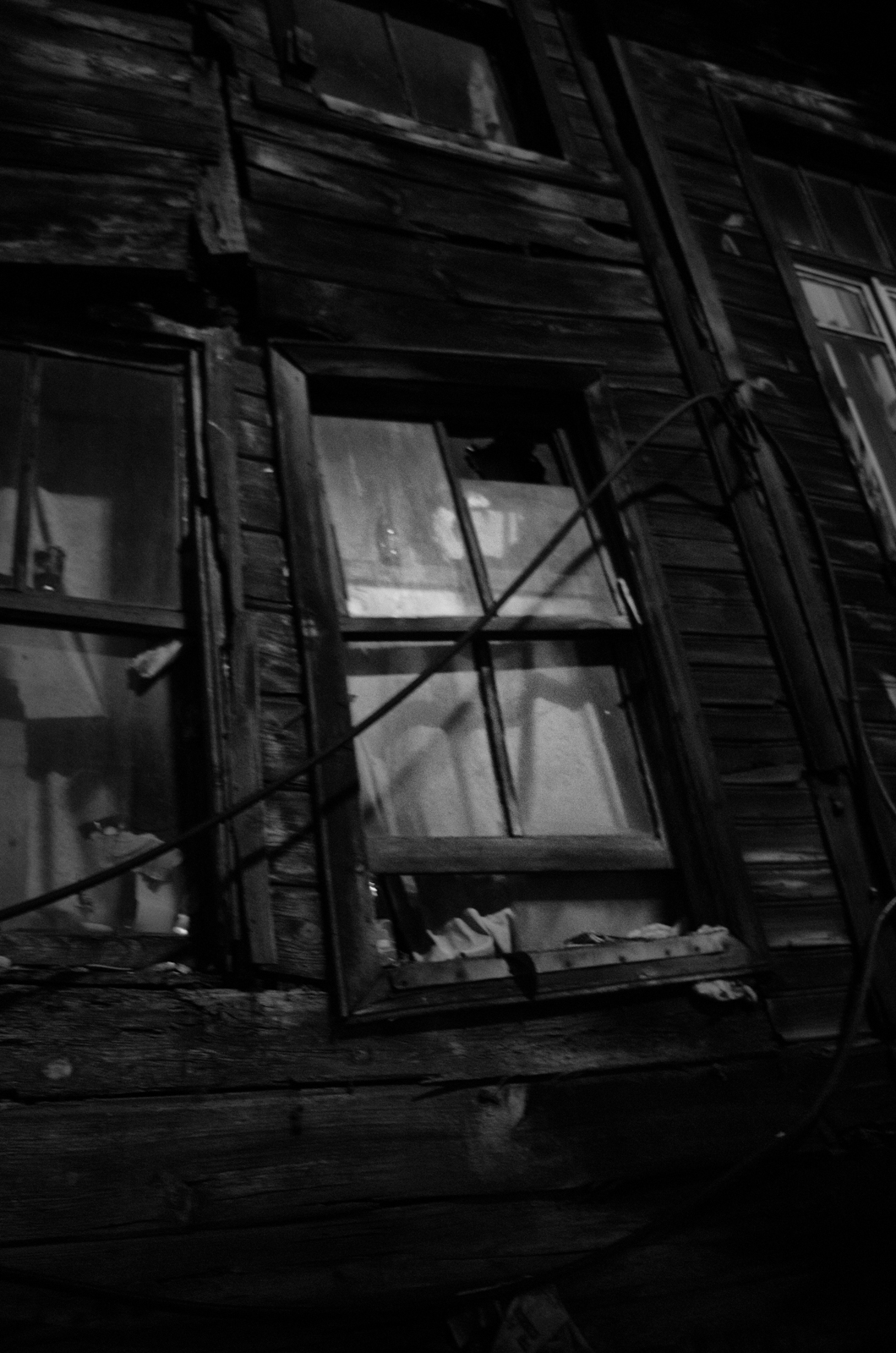 Bei vielen Holzhäuser ist der Verfall nicht mehr aufzuhalten