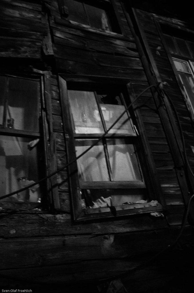Bei Nacht haben die alten Villen etwas Unheimliches.